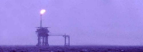 Plataforma petroleira no Mar do Norte