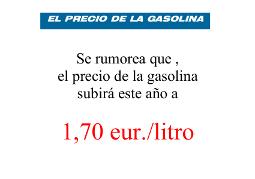 Contra a desinformación sobre o prezo da gasolina