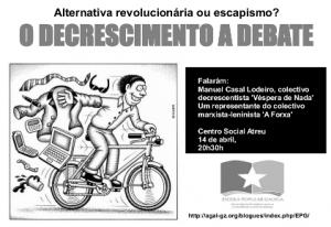 O Decrecemento a debate mañá xoves no Atreu (A Coruña)