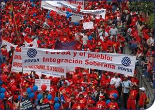 Marcha por la Dignidad, la Soberanía y la Integración que conmemoró el décimo cuarto aniversario del 4 de febrero de 1992, día de la rebelión bolivariana