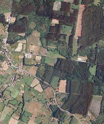 Foto aérea campo galego