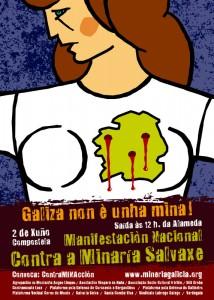 """""""Galiza non é unha mina"""". Manifestación nacional o 2 de xuño en Compostela"""