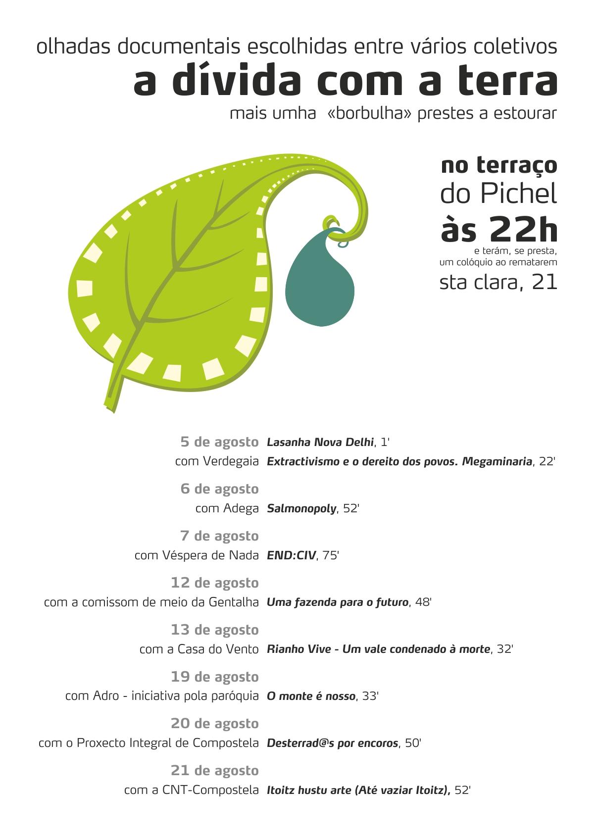 Ciclo cinema sobre conflitos medioambientais na Gentalha do Pichel (agosto 2013)
