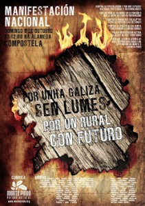 Véspera de Nada apoia a manifestación deste domingo 6 de outubro contra os incendios forestais