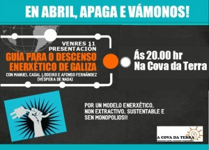 Sementamos a Revolución Pospetróleo en Lugo: venres 11 de abril, na Cova da Terra