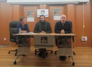Representantes de Contraminacción na rolda de prensa de presentación do II Encontro sobre impactos da minaría.