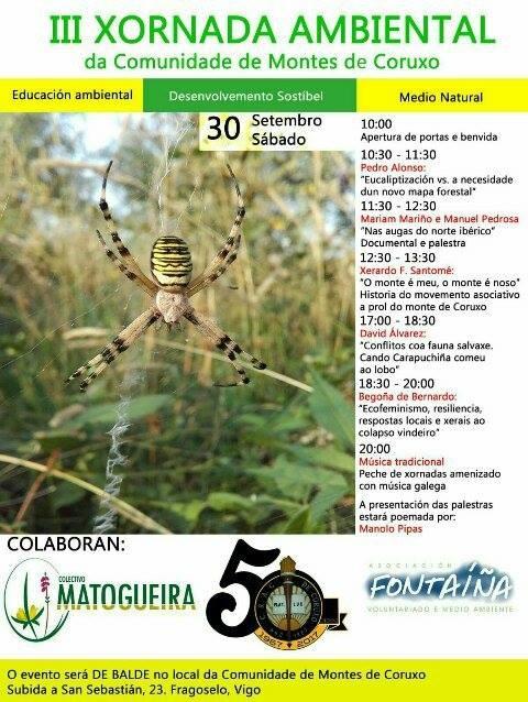 Cartaz da III Xornada Ambiental da Comunidade de Montes de Coruxo (Fragoselo, Vigo)