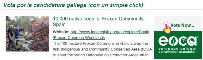 Vota polo proxecto galego no concurso de EOCA 2018