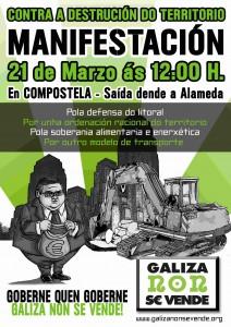 Véspera de Nada apoia a manifestación de Galiza Non Se Vende, mañá en Compostela
