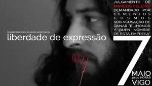 Véspera de Nada solidarízase con Marcos Celeiro e apoiará a concentración de hoxe diante dos xulgados de Vigo