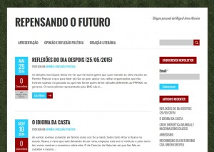 Apresenta-se o novo blogue de Miguel Anxo Abraira, «Repensando o futuro»