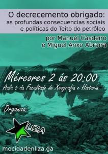 Este mércores 2 de decembro, charla sobre Decrecemento e Peak Oil en Compostela