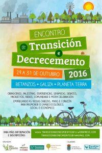 Encontro de Transición e Decrecemento 2016: Betanzos, do 29 ao 31 de outubro