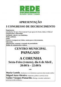 A Rede de Decrecemento e o I Congreso de Decrecemento